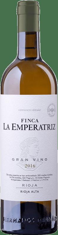 41,95 € Free Shipping | White wine Hernáiz Finca La Emperatriz Gran Vino Blanco Crianza D.O.Ca. Rioja The Rioja Spain Viura Bottle 75 cl