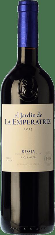 13,95 € Free Shipping | Red wine Hernáiz El Jardín de la Emperatriz Tinto Roble D.O.Ca. Rioja The Rioja Spain Tempranillo, Grenache, Graciano, Viura, Maturana White Bottle 75 cl