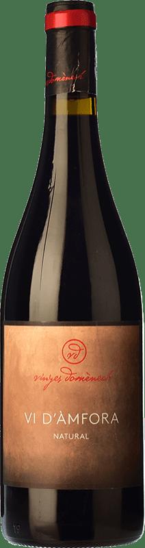 15,95 € Free Shipping | Red wine Domènech Vi d'Àmfora Natural Crianza D.O. Montsant Catalonia Spain Grenache Bottle 75 cl