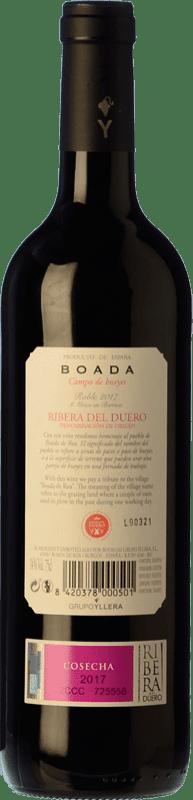 9,95 € Free Shipping | Red wine Yllera Boada Roble D.O. Ribera del Duero Castilla y León Spain Tempranillo Bottle 75 cl