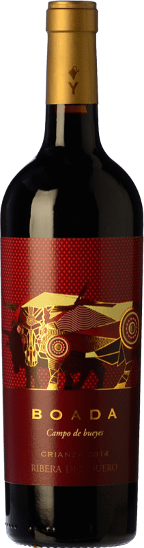 9,95 € Free Shipping | Red wine Yllera Boada Crianza D.O. Ribera del Duero Castilla y León Spain Tempranillo Bottle 75 cl