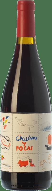 22,95 € 免费送货 | 红酒 4 Kilos Gallinas & Focas Crianza I.G.P. Vi de la Terra de Mallorca 巴利阿里群岛 西班牙 Syrah, Mantonegro 瓶子 75 cl