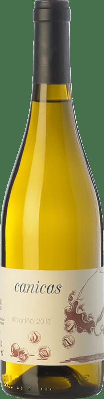 11,95 € Envío gratis | Vino blanco A Tresbolillo Canicas D.O. Rías Baixas Galicia España Albariño Botella 75 cl
