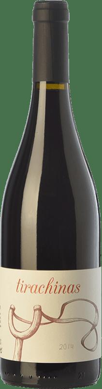 11,95 € Envío gratis | Vino tinto A Tresbolillo Tirachinas Crianza D.O. Bierzo Castilla y León España Mencía Botella 75 cl