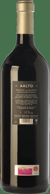 32,95 € Free Shipping | Red wine Aalto Reserva D.O. Ribera del Duero Castilla y León Spain Tempranillo Jéroboam Bottle-Double Magnum 3 L