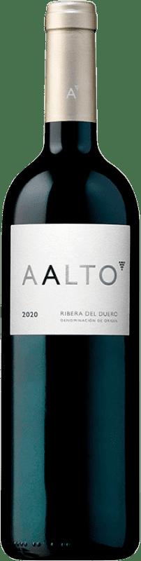 42,95 € 免费送货 | 红酒 Aalto Reserva D.O. Ribera del Duero 卡斯蒂利亚莱昂 西班牙 Tempranillo 瓶子 75 cl