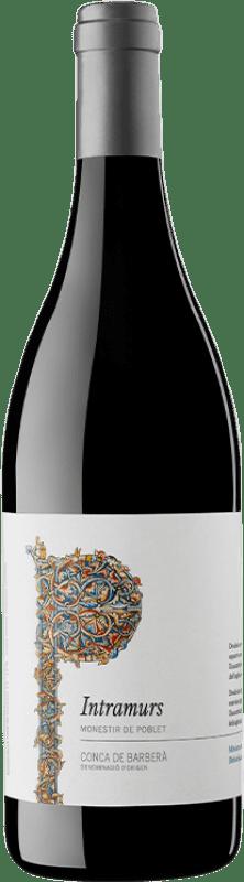 7,95 € Free Shipping | Red wine Abadia de Poblet Intramurs Negre Joven D.O. Conca de Barberà Catalonia Spain Tempranillo, Merlot, Cabernet Sauvignon Bottle 75 cl