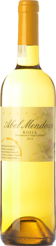 23,95 € Free Shipping | White wine Abel Mendoza Crianza D.O.Ca. Rioja The Rioja Spain Malvasía Bottle 75 cl