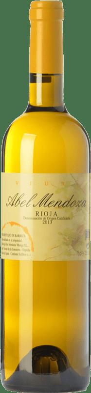 27,95 € Envoi gratuit | Vin blanc Abel Mendoza Crianza D.O.Ca. Rioja La Rioja Espagne Viura Bouteille 75 cl