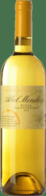 23,95 € Free Shipping | White wine Abel Mendoza Tempranillo Crianza D.O.Ca. Rioja The Rioja Spain Tempranillo White Bottle 75 cl