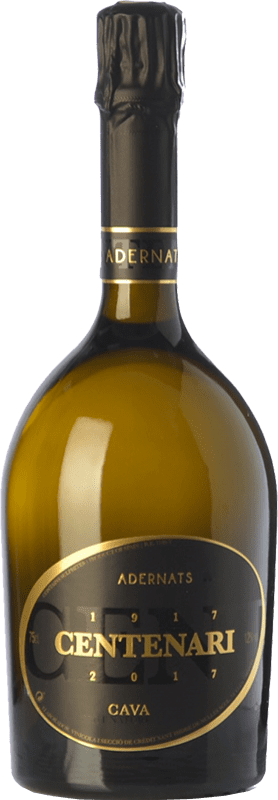 29,95 € | White sparkling Adernats Centenari Brut Nature Reserva D.O. Cava Catalonia Spain Macabeo Bottle 75 cl