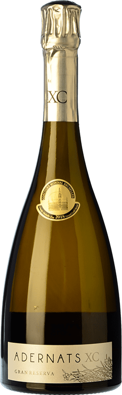 47,95 € Free Shipping | White sparkling Adernats XC Gran Reserva D.O. Cava Catalonia Spain Xarel·lo Bottle 75 cl