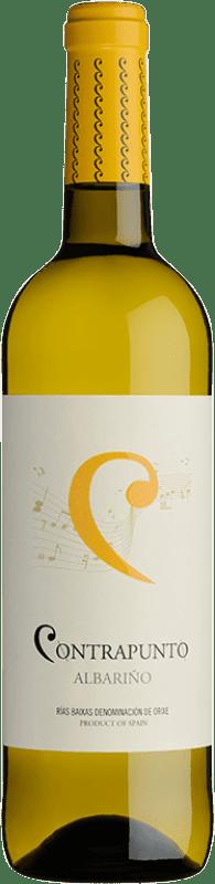 9,95 € 免费送货   白酒 Agro de Bazán Contrapunto D.O. Rías Baixas 加利西亚 西班牙 Albariño 瓶子 75 cl