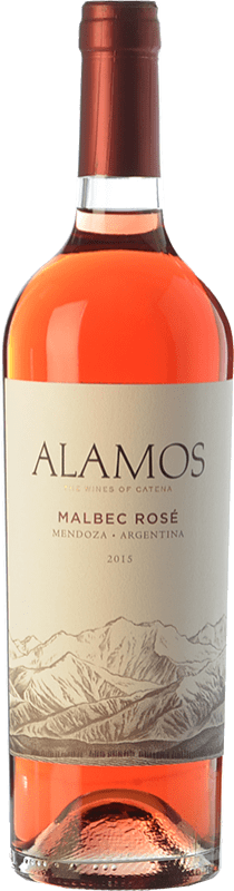8,95 € Envío gratis | Vino rosado Alamos Rosé I.G. Mendoza Mendoza Argentina Malbec Botella 75 cl