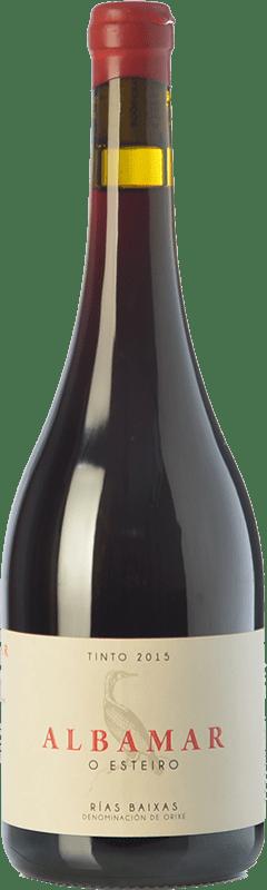 27,95 € | Red wine Albamar O Esteiro Joven D.O. Rías Baixas Galicia Spain Mencía, Caíño Black, Espadeiro Bottle 75 cl