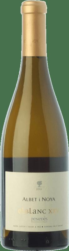 29,95 € Envío gratis | Vino blanco Albet i Noya El Blanc XXV Crianza D.O. Penedès Cataluña España Viognier, Marina Rion, Vidal Botella 75 cl