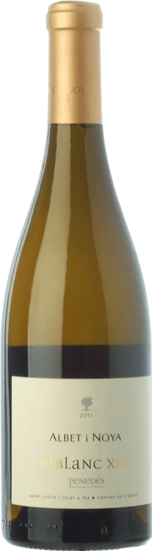 29,95 € | White wine Albet i Noya El Blanc XXV Crianza D.O. Penedès Catalonia Spain Viognier, Marina Rion, Vidal Bottle 75 cl