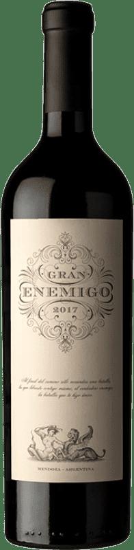 74,95 € Envío gratis | Vino tinto Aleanna Gran Enemigo Reserva I.G. Mendoza Mendoza Argentina Cabernet Sauvignon, Cabernet Franc, Malbec, Petit Verdot Botella 75 cl