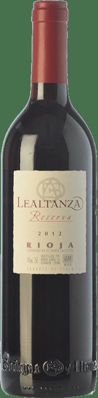 13,95 € Envío gratis | Vino tinto Altanza Lealtanza Reserva D.O.Ca. Rioja La Rioja España Tempranillo Botella 75 cl