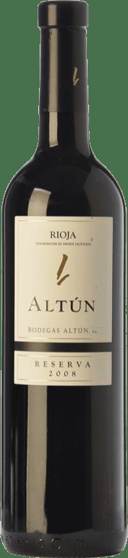 12,95 € Envío gratis | Vino tinto Altún Reserva D.O.Ca. Rioja La Rioja España Tempranillo Botella 75 cl