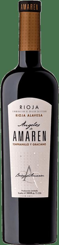 19,95 € | Red wine Amaren Ángeles Crianza D.O.Ca. Rioja The Rioja Spain Tempranillo, Graciano Bottle 75 cl