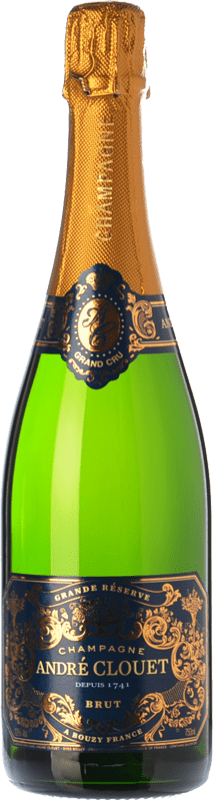 34,95 € Free Shipping | White sparkling André Clouet Grande Réserve Brut Gran Reserva A.O.C. Champagne Champagne France Pinot Black Bottle 75 cl