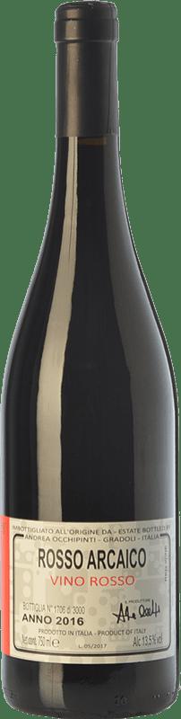 21,95 € Free Shipping | Red wine Andrea Occhipinti Rosso Arcaico I.G.T. Lazio Lazio Italy Grenache Tintorera, Aleatico Bottle 75 cl