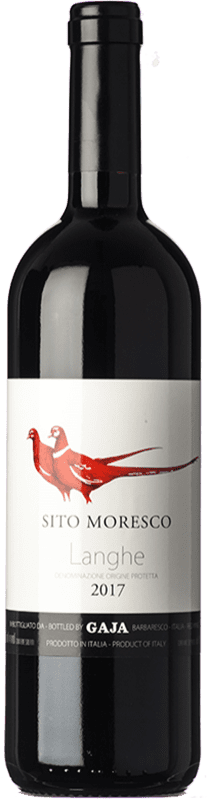 53,95 € Free Shipping | Red wine Gaja Sito Moresco D.O.C. Langhe Piemonte Italy Merlot, Nebbiolo, Barbera Bottle 75 cl