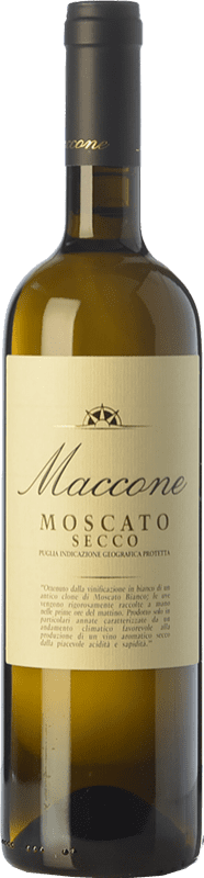 15,95 € 免费送货 | 白酒 Angiuli Moscato Secco Maccone I.G.T. Puglia 普利亚大区 意大利 Muscatel White 瓶子 75 cl