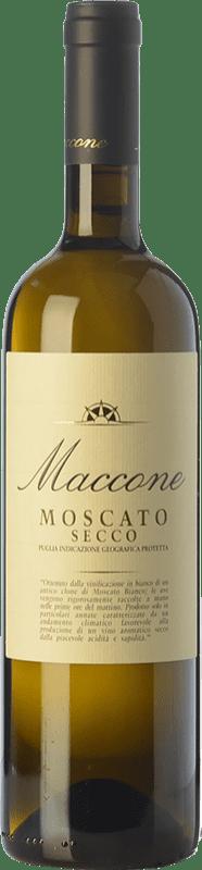 15,95 € Envío gratis | Vino blanco Angiuli Moscato Secco Maccone I.G.T. Puglia Puglia Italia Moscatel Blanco Botella 75 cl