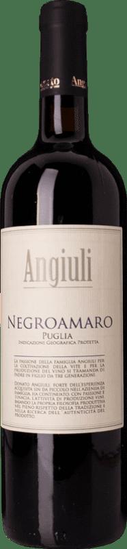 9,95 € Envío gratis | Vino tinto Angiuli I.G.T. Puglia Puglia Italia Negroamaro Botella 75 cl