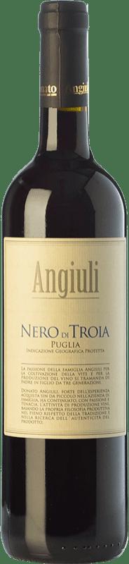 11,95 € 免费送货 | 红酒 Angiuli I.G.T. Puglia 普利亚大区 意大利 Nero di Troia 瓶子 75 cl