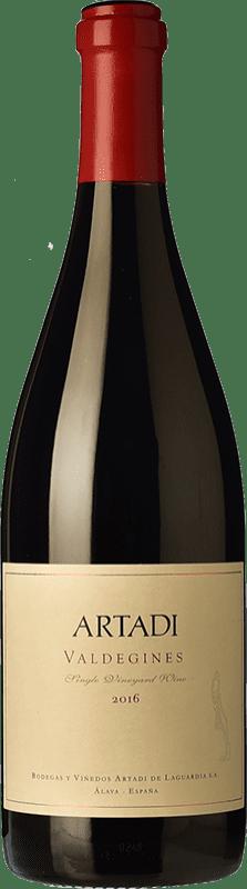 33,95 € Envío gratis | Vino tinto Artadi Valdeginés Crianza España Tempranillo Botella 75 cl