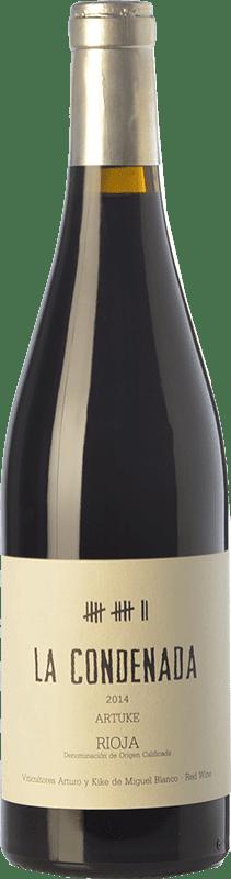 48,95 € Envío gratis | Vino tinto Artuke La Condenada Crianza D.O.Ca. Rioja La Rioja España Tempranillo, Garnacha, Graciano, Palomino Fino Botella 75 cl