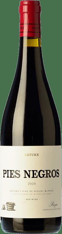 16,95 € Envío gratis | Vino tinto Artuke Pies Negros Crianza D.O.Ca. Rioja La Rioja España Tempranillo, Graciano Botella 75 cl
