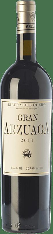 121,95 € Envío gratis | Vino tinto Arzuaga Gran Arzuaga Crianza D.O. Ribera del Duero Castilla y León España Tempranillo, Cabernet Sauvignon, Albillo Botella 75 cl