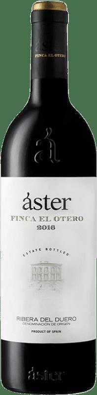 29,95 € Envío gratis | Vino tinto Áster Finca El Otero Crianza D.O. Ribera del Duero Castilla y León España Tempranillo Botella 75 cl