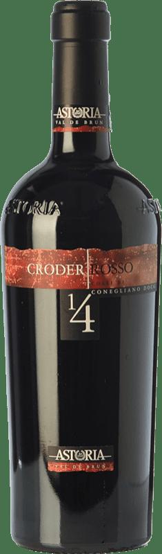 26,95 € Free Shipping | Red wine Astoria Croder D.O.C. Colli di Conegliano Veneto Italy Merlot, Cabernet Sauvignon, Cabernet Franc, Marzemino Bottle 75 cl