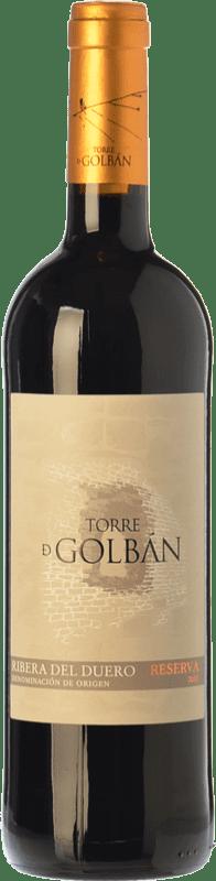 14,95 € | Red wine Atalayas de Golbán Torre de Golbán Reserva D.O. Ribera del Duero Castilla y León Spain Tempranillo Bottle 75 cl