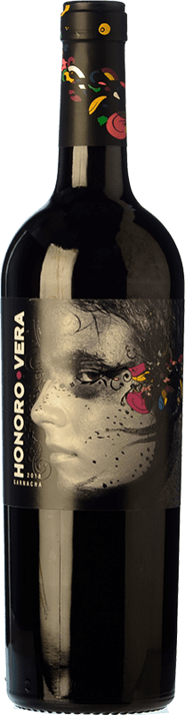 6,95 € Free Shipping | Red wine Ateca Honoro Vera Joven D.O. Calatayud Aragon Spain Grenache Bottle 75 cl