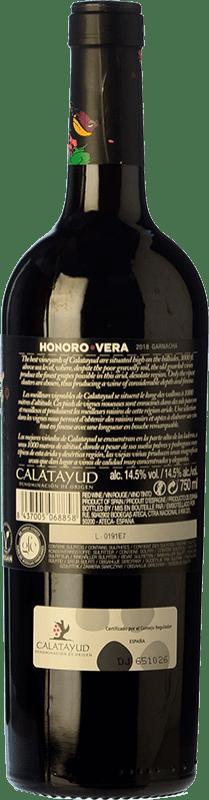 6,95 € Free Shipping | Red wine Ateca Honoro Vera Joven D.O. Calatayud Aragon Spain Grenache Bottle 75 cl