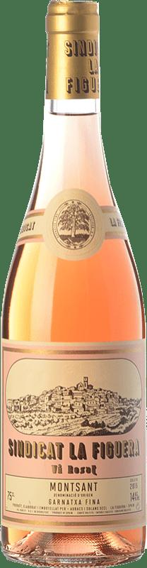 8,95 € 免费送货 | 玫瑰酒 Aubacs i Solans Sindicat la Figuera Rosat Joven D.O. Montsant 加泰罗尼亚 西班牙 Grenache 瓶子 75 cl