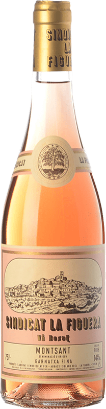 8,95 € Envío gratis | Vino rosado Aubacs i Solans Sindicat la Figuera Rosat Joven D.O. Montsant Cataluña España Garnacha Botella 75 cl