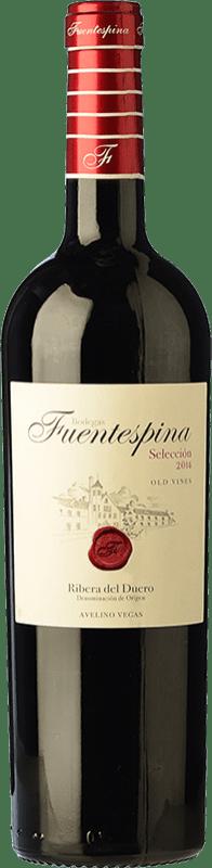17,95 € Free Shipping | Red wine Avelino Vegas Fuentespina Selección Crianza D.O. Ribera del Duero Castilla y León Spain Tempranillo Bottle 75 cl