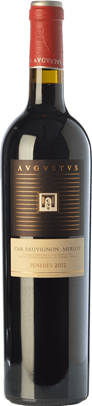 12,95 € Envío gratis | Vino tinto Augustus Crianza D.O. Penedès Cataluña España Merlot, Cabernet Sauvignon Botella 75 cl