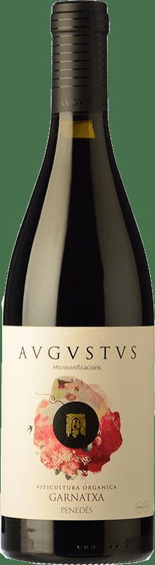 16,95 € Envío gratis | Vino tinto Augustus Microvinificacions Joven D.O. Penedès Cataluña España Garnacha Botella 75 cl