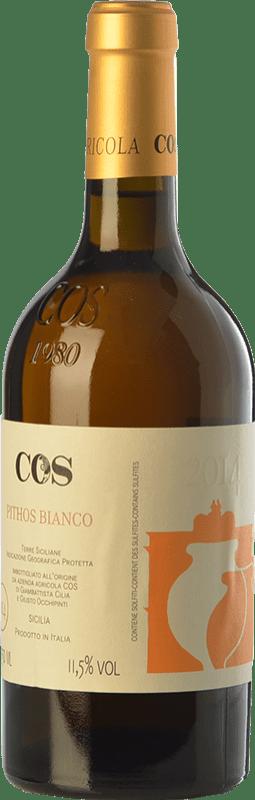 23,95 € Free Shipping | White wine Cos Pithos Bianco I.G.T. Terre Siciliane Sicily Italy Grecanico Dorato Bottle 75 cl