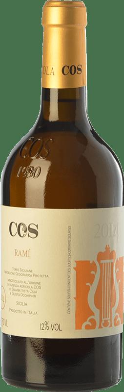 18,95 € Envío gratis | Vino blanco Cos Ramì I.G.T. Terre Siciliane Sicilia Italia Insolia, Grecanico Dorato Botella 75 cl