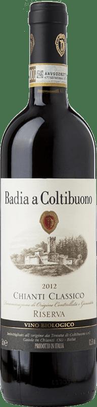 37,95 € Free Shipping | Red wine Badia a Coltibuono Riserva Reserva D.O.C.G. Chianti Classico Tuscany Italy Sangiovese, Colorino, Canaiolo, Ciliegiolo Bottle 75 cl