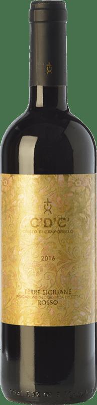11,95 € Free Shipping | Red wine Cristo di Campobello C'D'C' Rosso I.G.T. Terre Siciliane Sicily Italy Merlot, Syrah, Cabernet Sauvignon, Nero d'Avola Bottle 75 cl